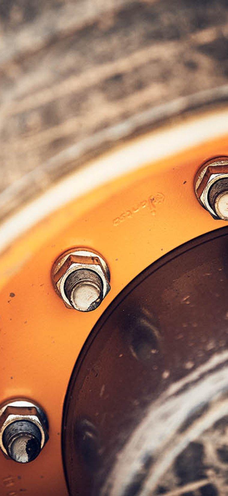 Detaljbild på hjul